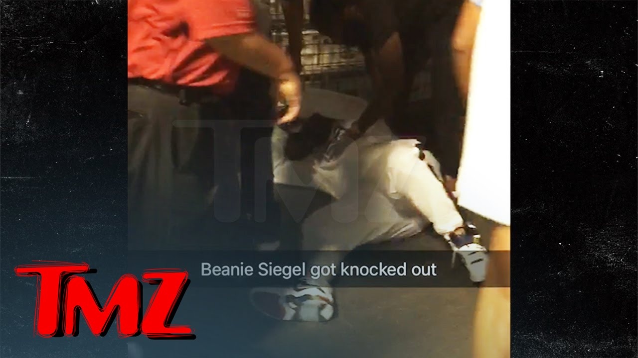 Exclusive Footage of Beanie Sigel Getting  Knocked Out Backstage By Meek Mill's Goon