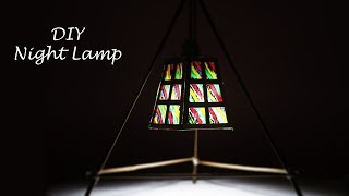 How to make a Night Lamp   DIY Hanging Table Lamp