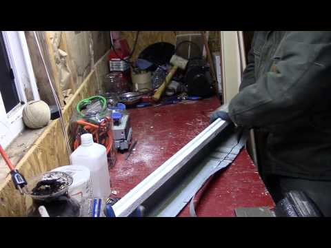 Making Homemade Gutters from Scrap Metal