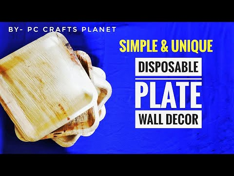 Wall decoration ideas| Wall hanging craft ideas | Disposable plates craft ideas| art & craft ideas