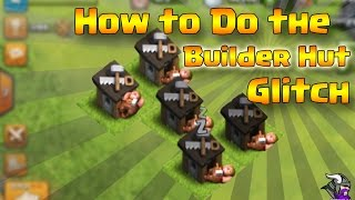 How to Make Your Builder Sleep OutSide!!!! Builder Hut Glitch in Clash of Clans!!