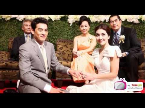 ภาพงานแต่งงานเช้า ชาคริต-วุ้นเส้น