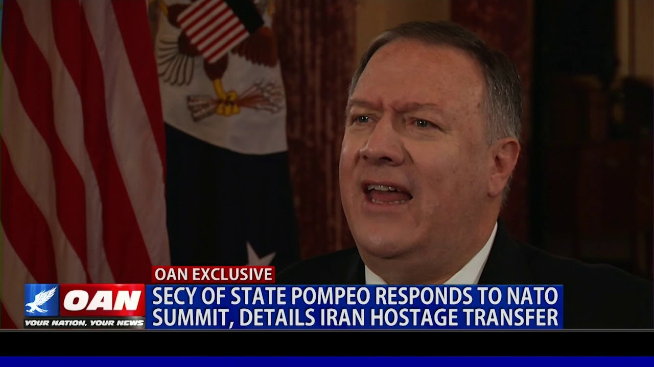 OAN EXCLUSIVE: Secretary Pompeo responds to NATO summit, details Iran hostage transfer
