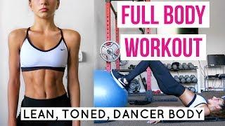 FULL BODY GYM WORKOUT for a LEAN TONED DANCER BODY (Tutorial) // TessaRenéeTR