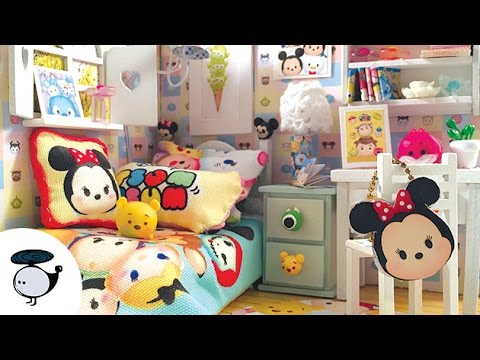 Diy Tsum Tsum Dollhouse Miniature Room With Working