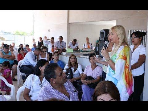 La ministra visitó la futura policlínica de Lomas de Tafí