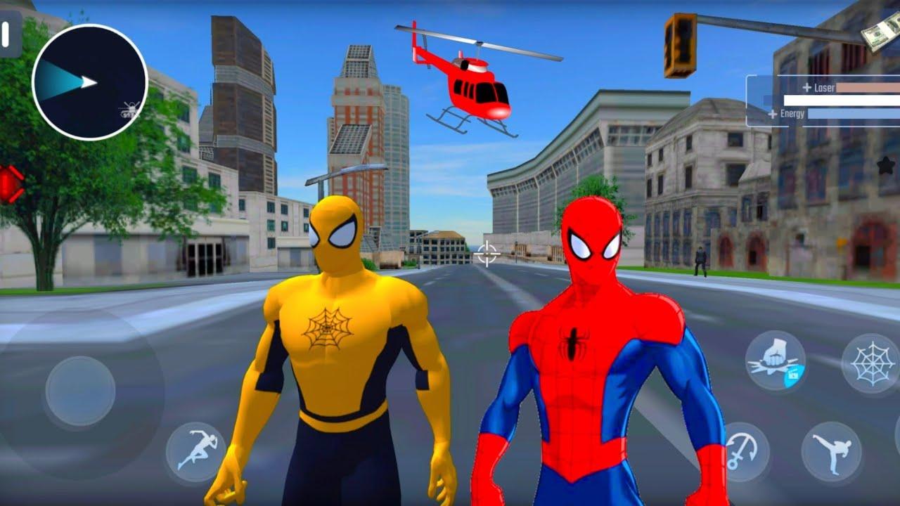 Süper Kahraman Örümcek Adam Oyunu #11 - Spider Rope Hero - Gangster New York City