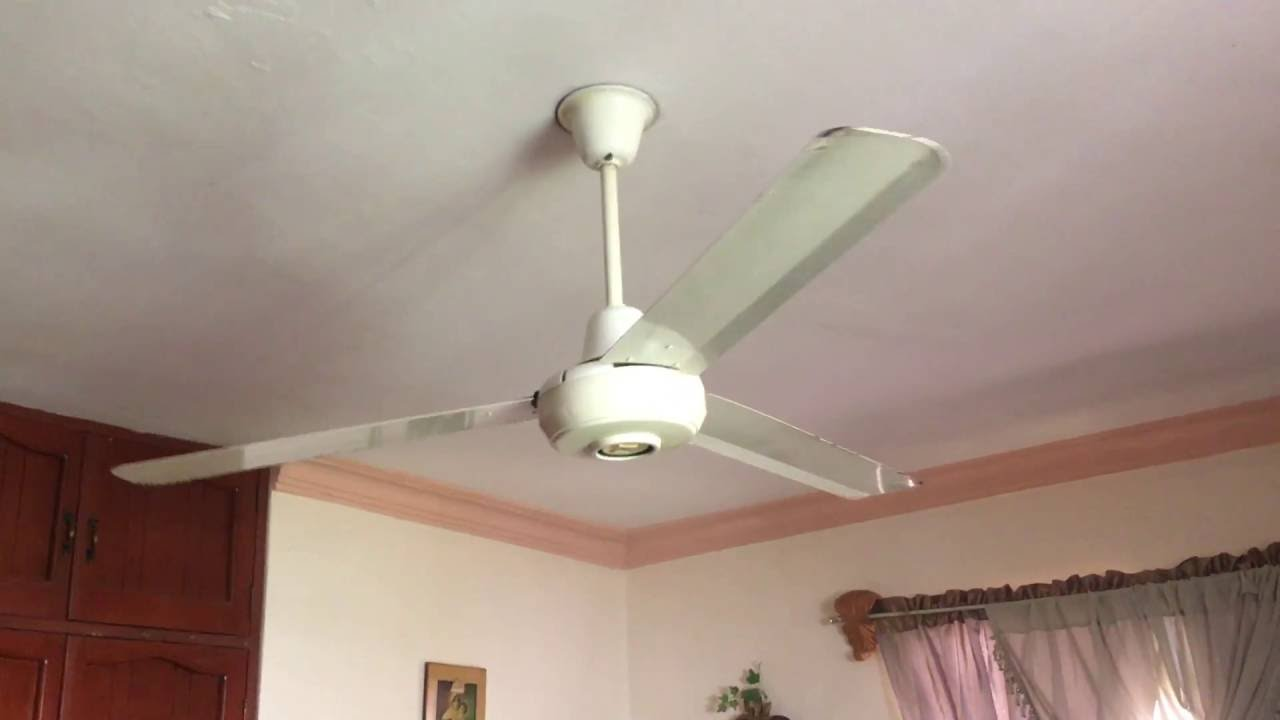 panasonic industrial ceiling fan model f5609l at a neighbors house youtube