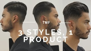3 Hairstyles Using 1 Product