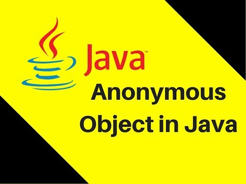 Anonymous Object in Java