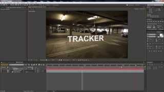 After Effects Track text in moving footage