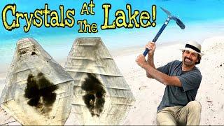 Found HUGE Selenite Crystals at Great Salt Lake!