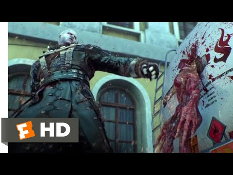 Resident Evil: Damnation (2012) - Tyrant Vs. Lickers Scene (9/10) | Movieclips
