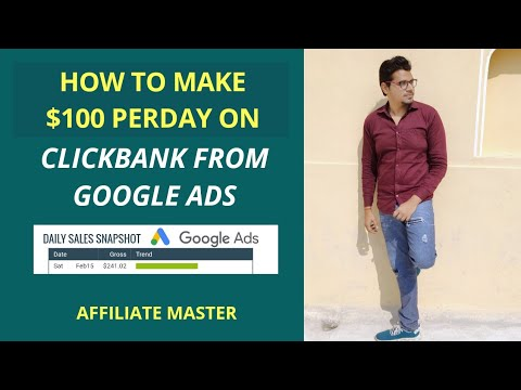 Make $100 From Google Ads For ClickBank Affiliate Marketing thumbnail