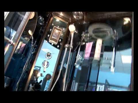 Душевая кабина Grado P3 120VS и P 120VS - YouTube