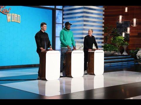 Colin Jost, Michael Che and Ellen Play 'Last Word'