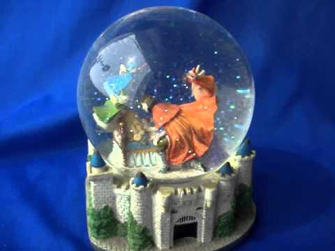 sleeping beauty snowglobe music box