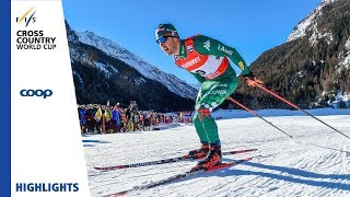 Highlights | Pellegrino leads Italian 1-2 | Cogne | Men's Sprint | FIS Cross Country