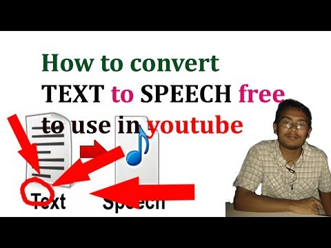 How to convert TEXT to SPEECH free to use in youtube