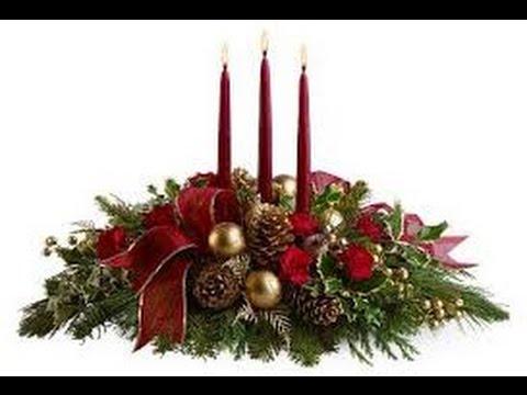 Diy como hacer un centro de mesa para navidad muy facil - Como hacer un centro de mesa navideno ...