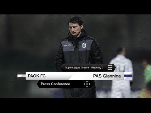 Η συνέντευξη Τύπου του ΠΑΟΚ-ΠΑΣ Γιάννινα - PAOK TV