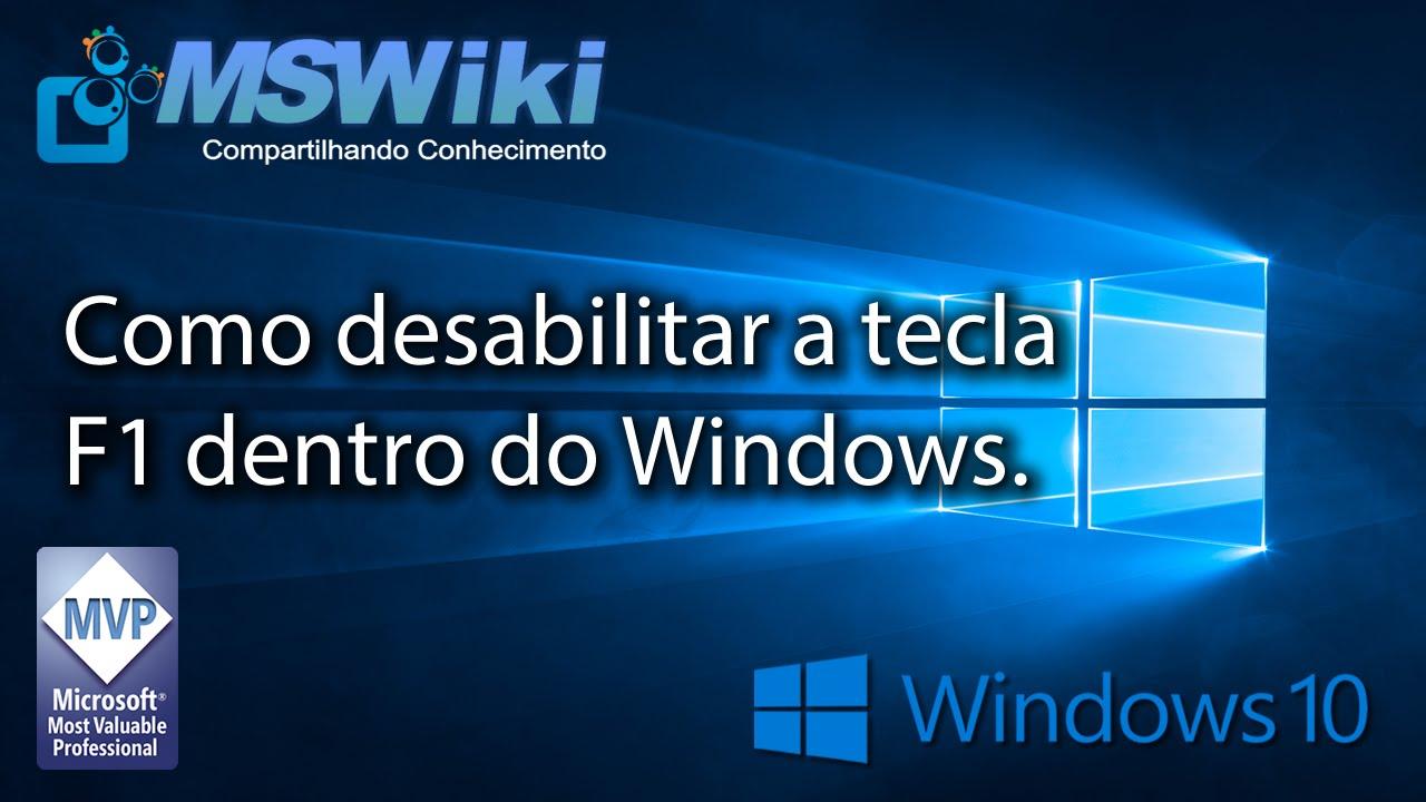 Notebook samsung desativar tecla fn - Windows 10 Como Desabilitar A Tecla F1 Dentro Do Windows