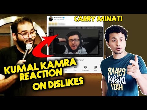 Comedian Kunal Kamra Reaction On DISLIKES On Carry Minati Roast Video