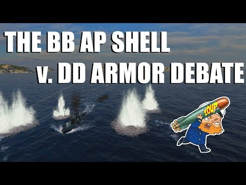 World of Warships BB AP shells versus DD Armor - What's the Deal?