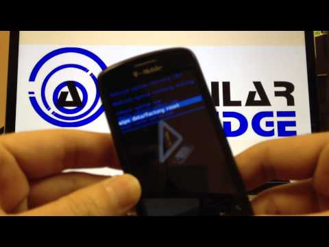 How to Master Reset a Mytouch 3g