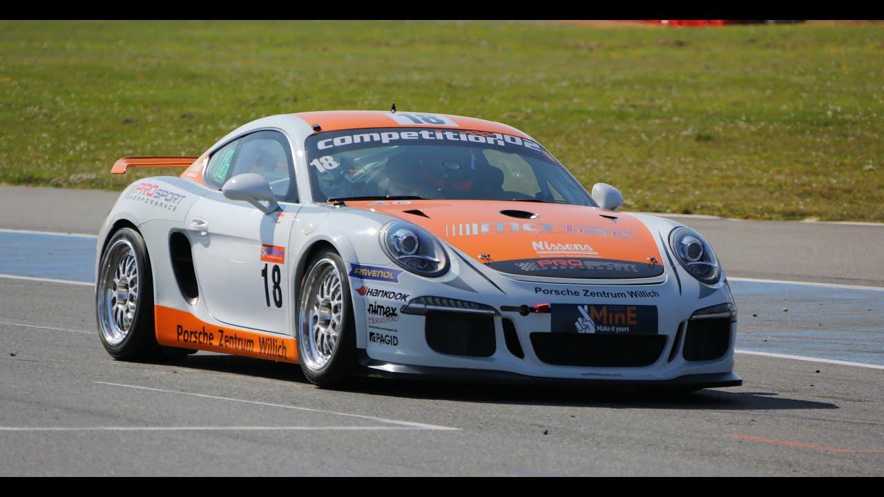 Gt4 Porsche Cayman In The Gt4 European Series Nogaro