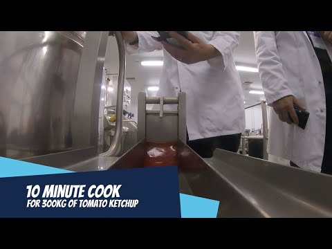 Steam Infusion Tomato Ketchup Super Fast Sauce Cooking in Food Processing OAL