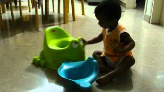 this is my way of using froggy potty