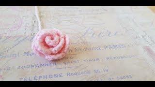 كروشيه وردة الخمس دقائق five mins crochet rose