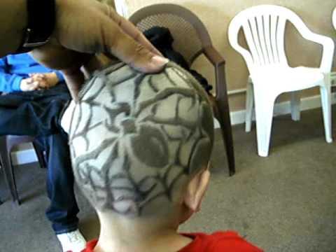 spider web hair design tunes