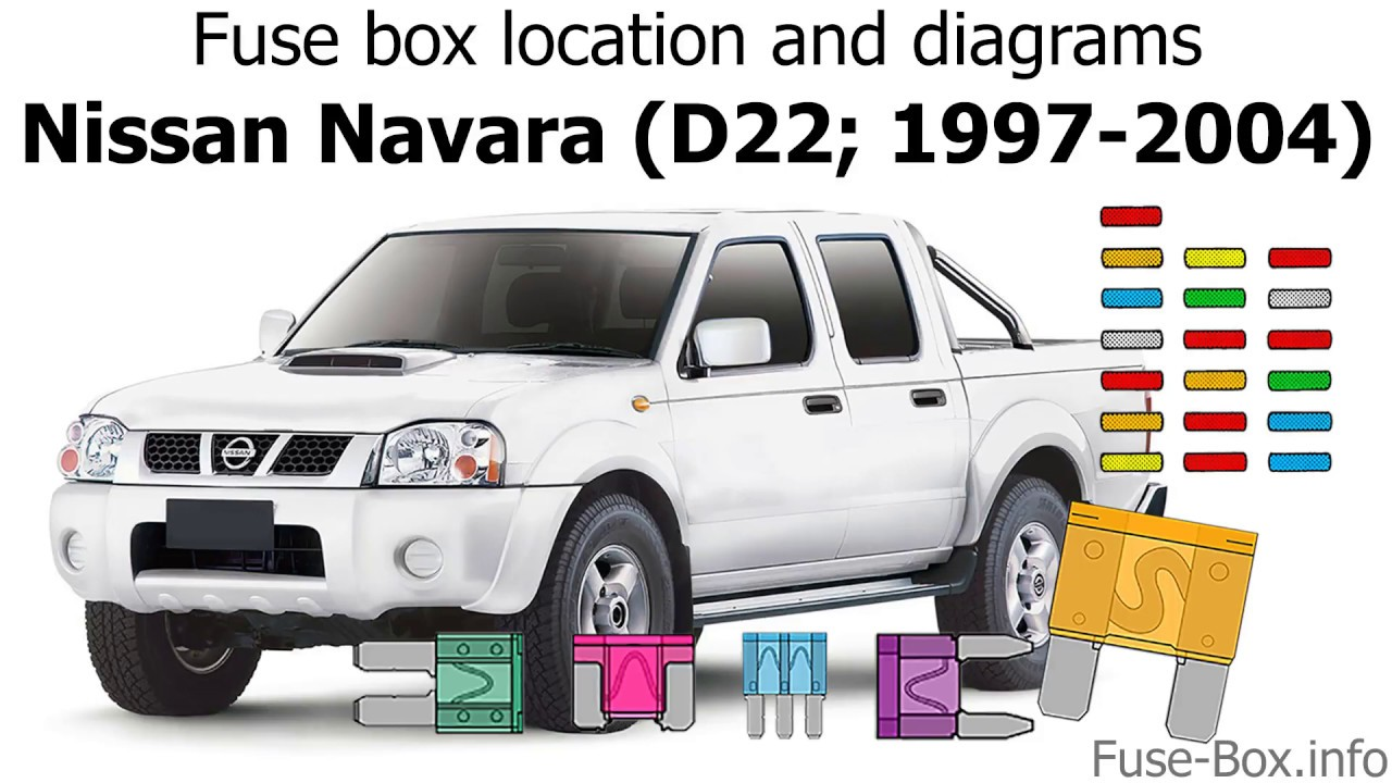 fuse box location and diagrams nissan navara d22 1997 2004 youtube nissan navara d22 fuse box diagram nissan navara fuse box diagram [ 1280 x 720 Pixel ]