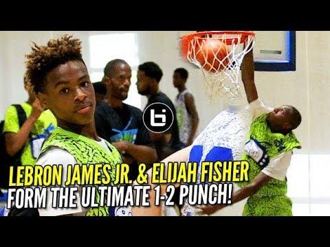 """Lebron James JR. & Elijah Fisher Were the ULTIMATE """"1-2 ..."""