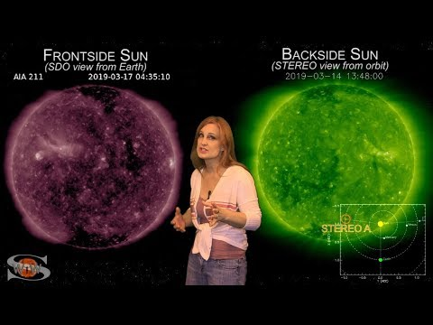 Space Weather News | A Filament Sandwiched by Sunspots 03.20.2019