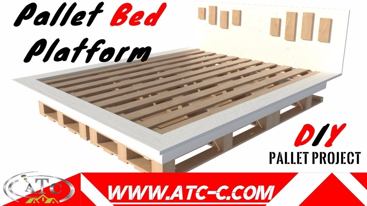 Single pallet bed frame - Make Your Inexpensive Diy Modern Pallet Bed How To