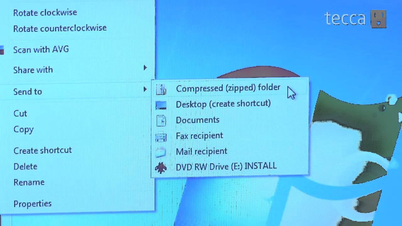 Just Show Me: How to create a zip file in Windows 7