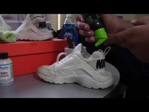 Nike Huarache Shoe Restoration // Angelus Paint