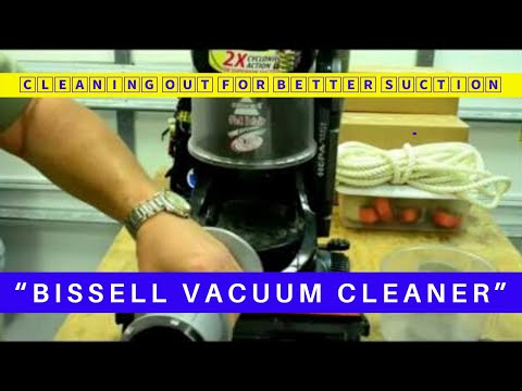 BISSELL VACUUM CLEANER / CLEANING OUT A VACUUM CLEANER