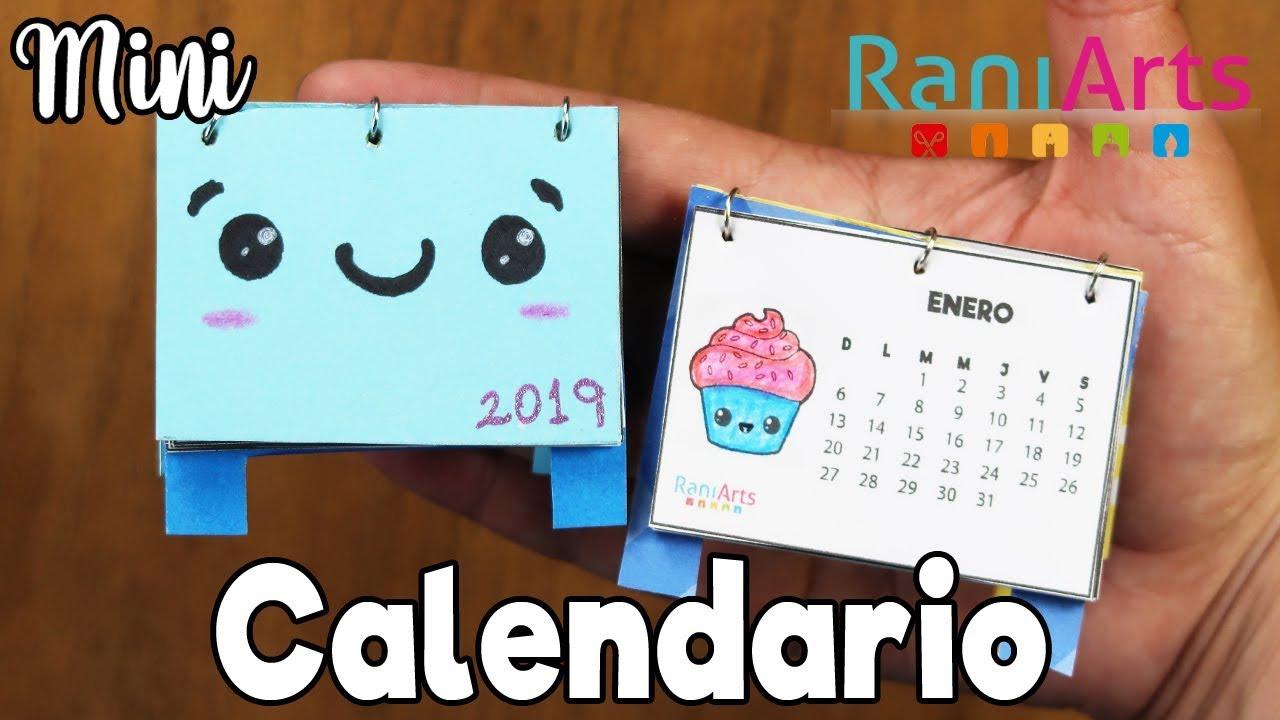 Mini Calendario.Mini Calendario 2019 Facil Diy Mini Calendar