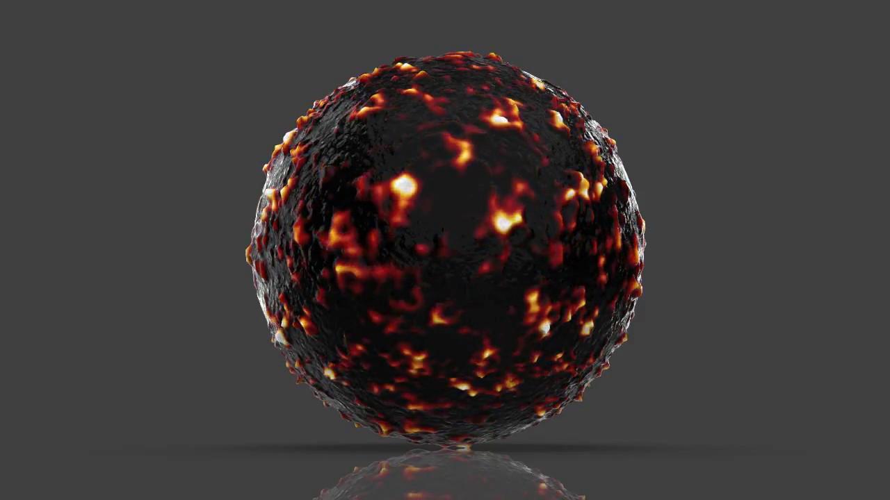Keyshot 7 animated hot Lava Material
