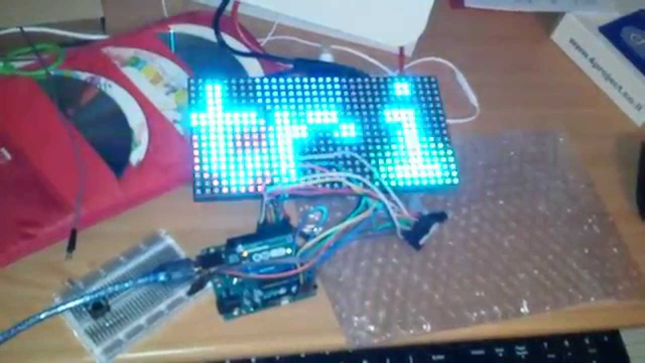 16x32 RGB LED matrix panel driven by Arduino Uno by Alexander Stepanov