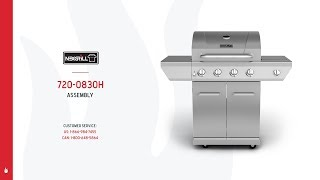 Nexgrill 4-Burner Gas Grill w/ Stainless Steel Side Burner (720-0830H)