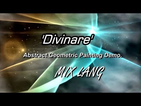 'DIVINARE' Abstract Geometric Painting Demo. MIX LANG subtitles