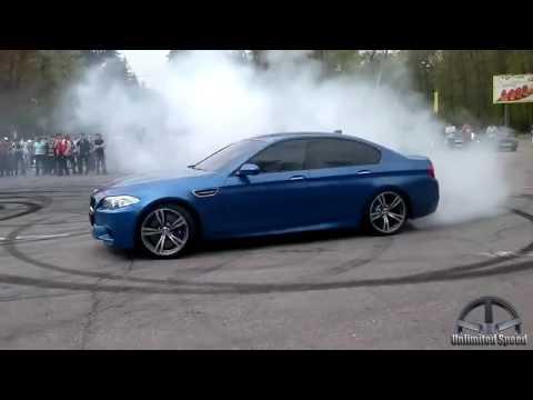 BMW M5 F10 Drift, Donuts, Burnout, Revs Compilation 2016/2017