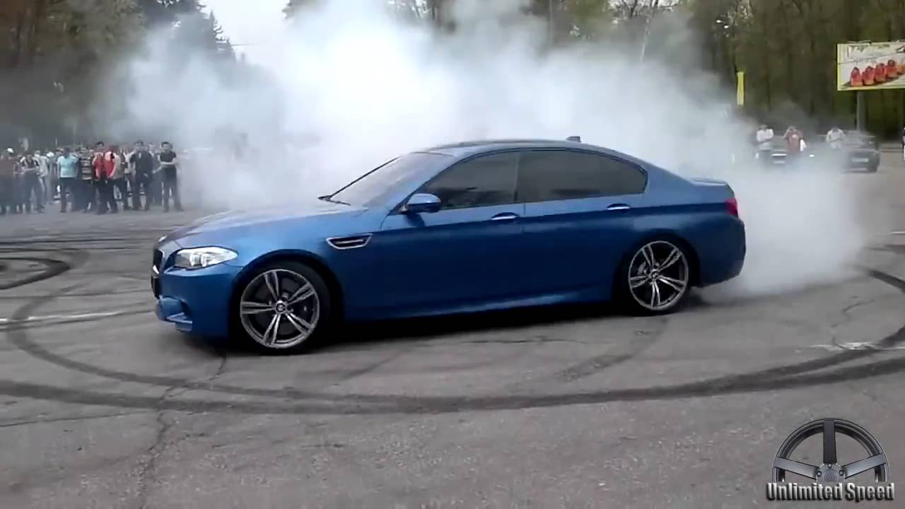 Bmw M5 F10 Drift Donuts Burnout Revs Compilation 2016