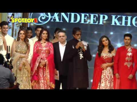 UNCUT- Amitabh Bachchan, Varun Dhawan, Alia Bhatt walk the Ramp for Charity | SpotboyE