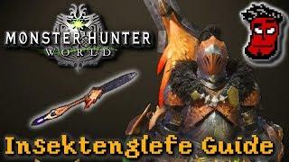 Monster Hunter World: Insektenglefe (Insect Glaive) Tutorial | Gameplay Guide [German Deutsch]